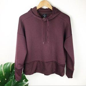 Nike | Dri-fit ribbed pullover maroon size medium
